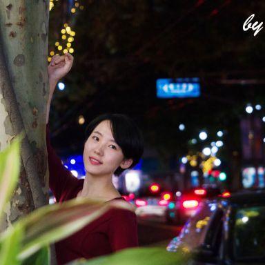 2018-11-13 南京西路夜景街拍_攝影師小植物綠綠的的返片