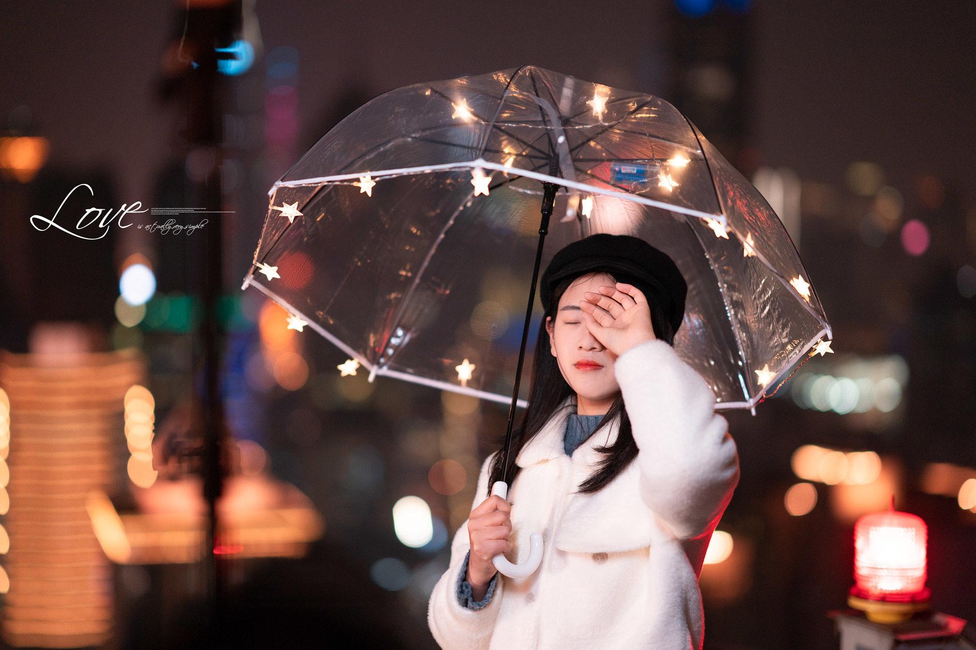 2019-01-21 天臺夜景情緒人像_攝影師晦恩 模特馮雪