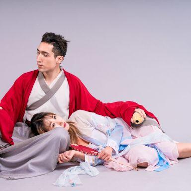 2019-02-19 輕羽視覺棚拍 漢服加婚紗_攝影師晦恩 模特小布 怪妹妹
