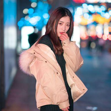 2019-02-24 静安寺附近街拍_摄影师晦恩 模特韩婷和闺蜜
