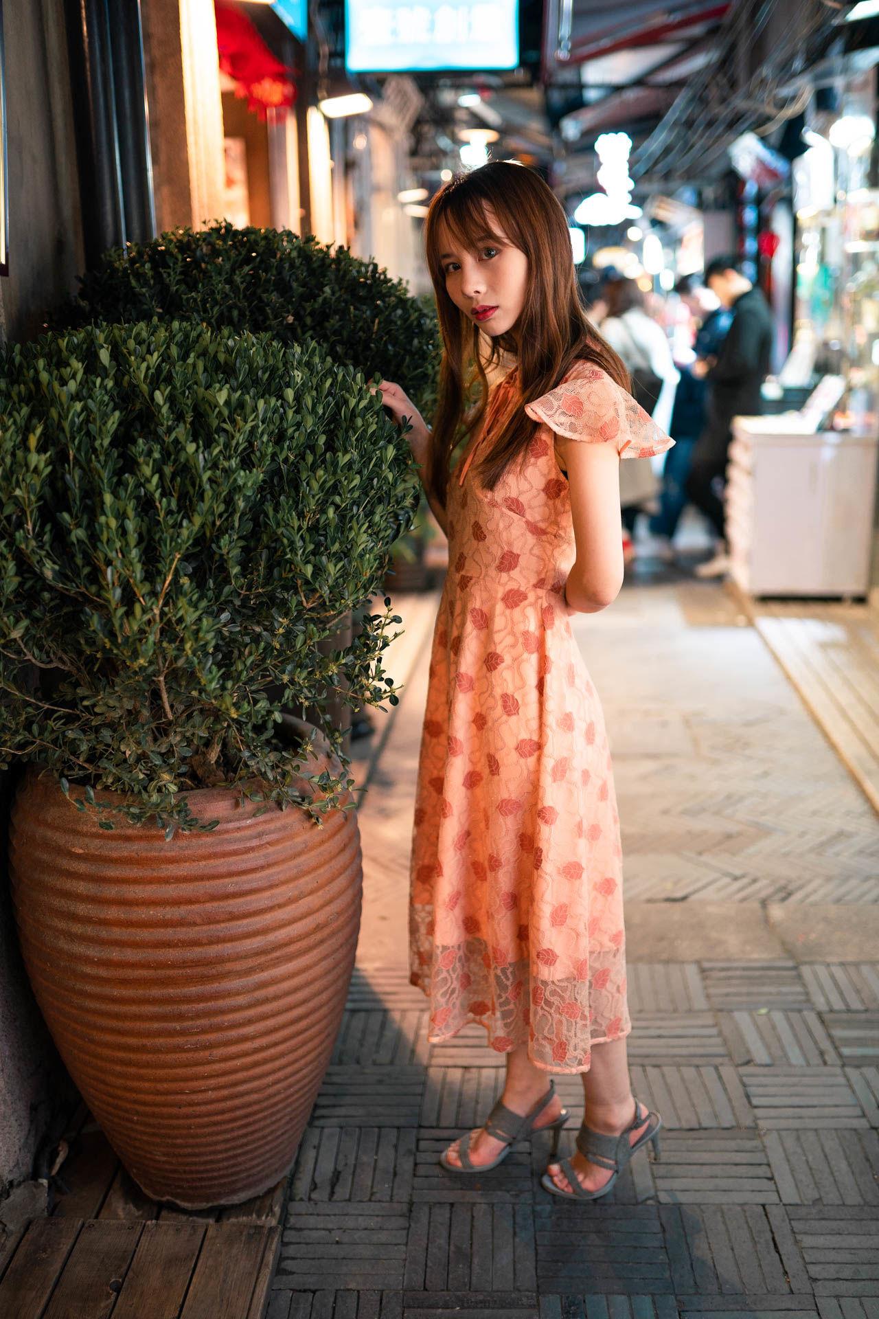 2019-02-28 田子坊街拍  拍改良旗袍 和 吊带配短裤_摄影师晦恩 模特西同