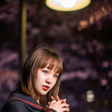 2019-03-19 静安雕塑公园 夜景樱花 JK?#21697;?校服_摄影师小刚的返片