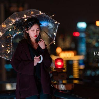 2019-03-22 天台夜景 小清新仙女棒_摄影师蒋俞欢的返片