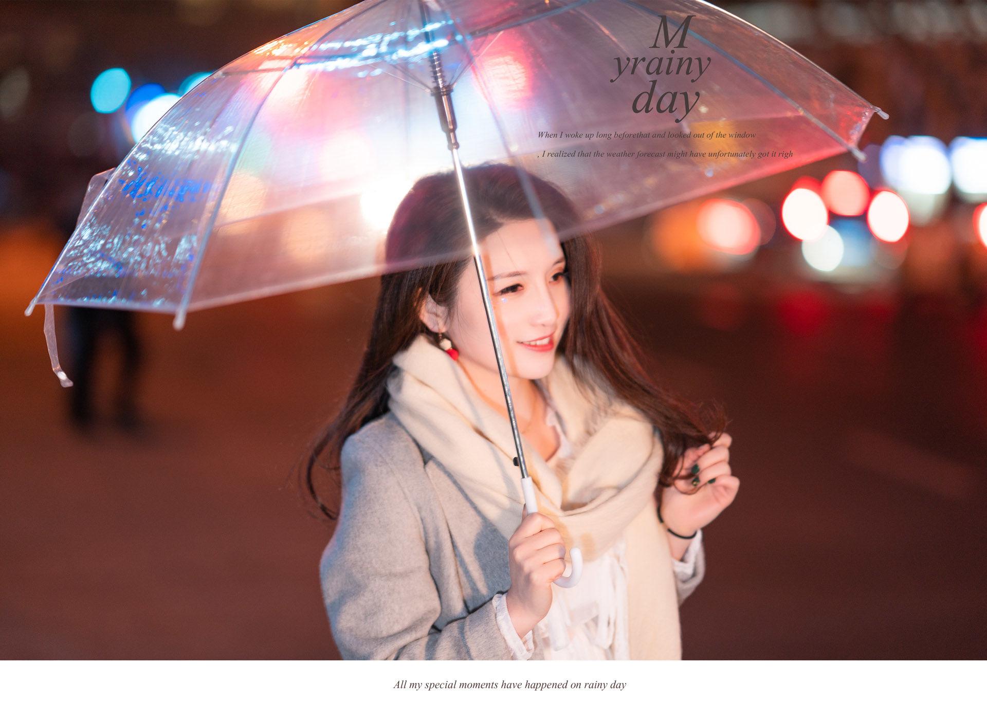 2019-04-03 森系甜美复古连衣裙 静安雕塑公园 夜景樱花_摄影师蒋俞欢的返片