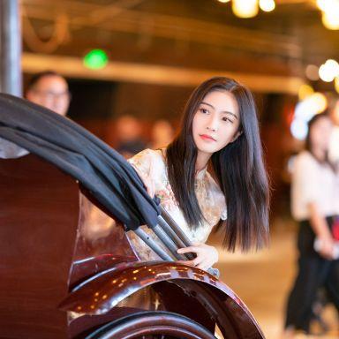2019-06-18 世紀匯地下老上海風情街 淡粉色少女旗袍_攝影師蔣俞歡的返片